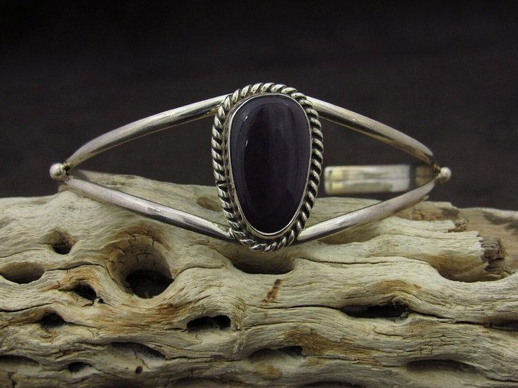 Navajo Sugilite Sterling Silver Cuff Bracelet by T Skeets