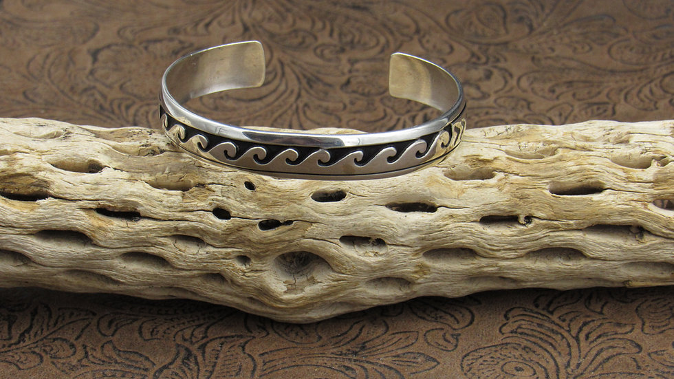 Oxidized Sterling Silver Cuff Bracelet