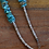 Thumbnail: Vintage Graduated Turquoise Nugget Necklace
