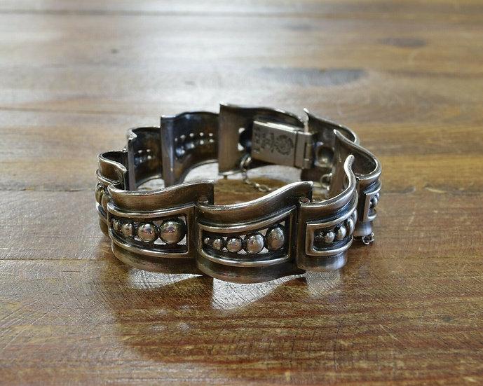 Vintage Taxco Mexican Sterling Silver Link Bracelet