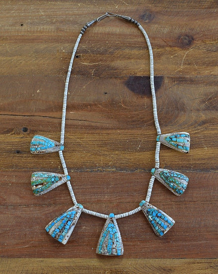 Southwest shell and turquoise necklace