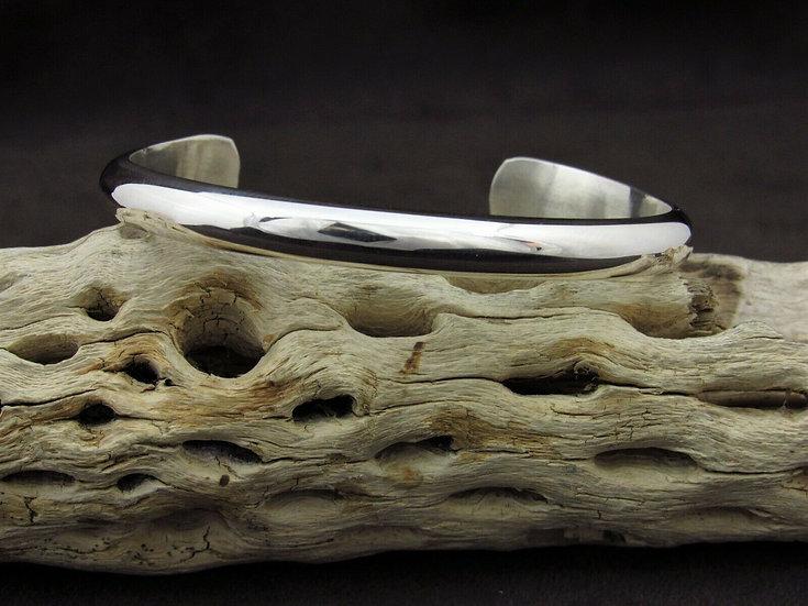 Navajo Sterling Silver Cuff Bracelet by Nora Tahe