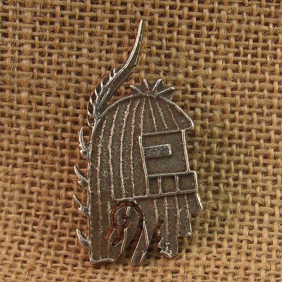 Navajo Long Hair Kachina Mask Sterling Silver Pendant