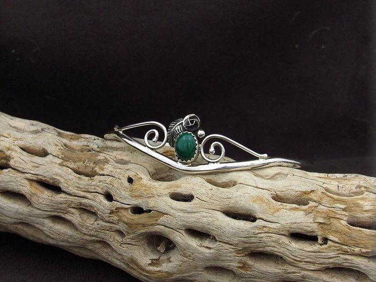 Sterling Silver Malachite Cuff Bracelet