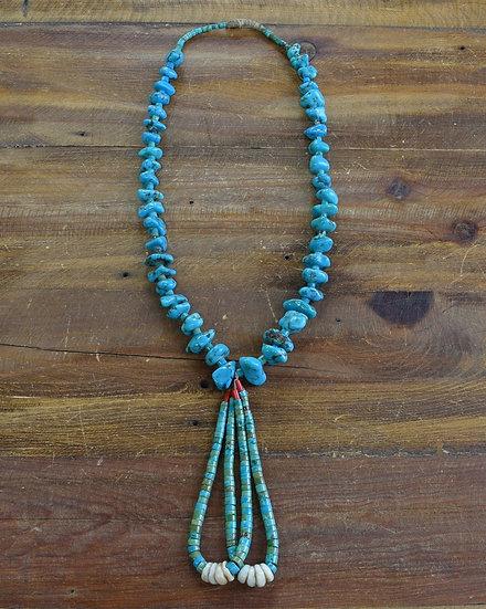 Vintage Turquoise Nugget Jacla Necklace