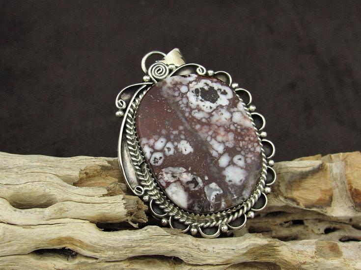 Southwestern Wild Horse Magnesite Sterling Silver Pendant