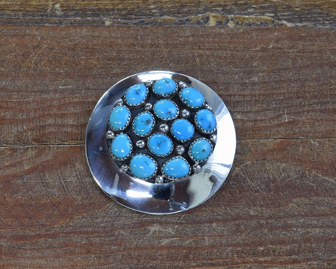Sterling Silver Turquoise Cluster Pin/Pendant