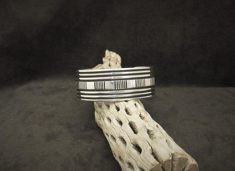 Sterling Silver Cuff Bracelet by Bruce Morgan