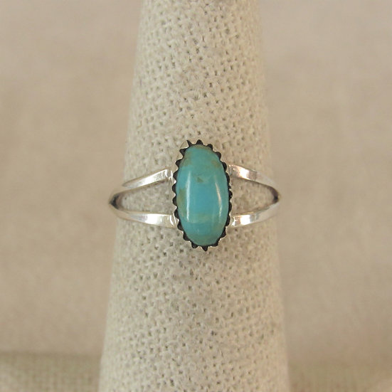 Sterling Silver and Turquoise Ladies Ring Size 6.25