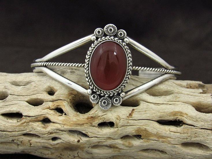 Sterling Silver Carnelian Cuff Bracelet