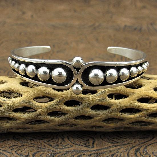 Sterling Silver Cuff Bracelet by Johnathon Nez