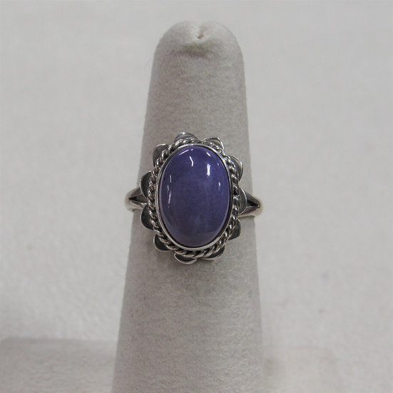 Sterling Silver and Charoite Ladies Ring Size 5
