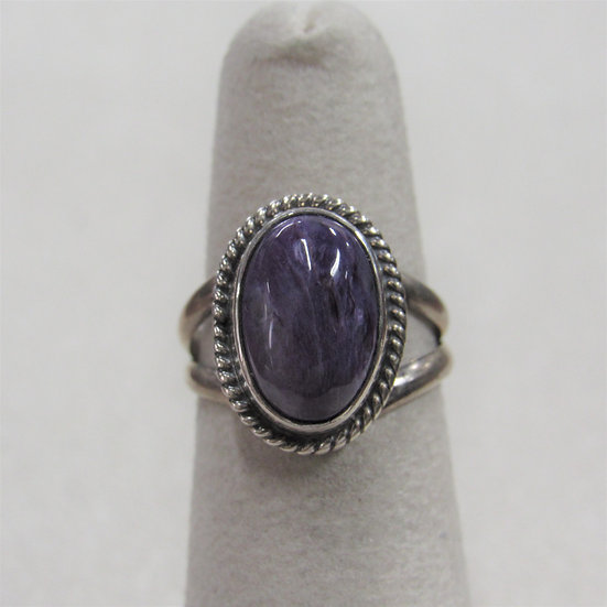 Sterling Silver and Charoite Ladies Ring Size 5.25 by Burt Francisco