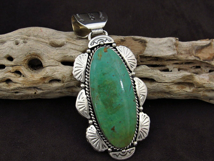 Southwestern Turquoise Sterling Silver Pendant
