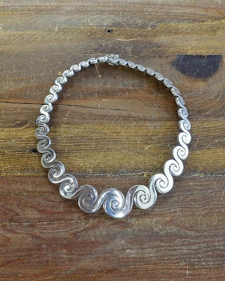 Vintage Southwestern Sterling Silver Choker Necklace
