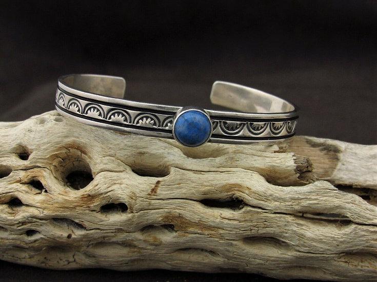 Sterling Silver Lapis Cuff Bracelet by Jane McCrory
