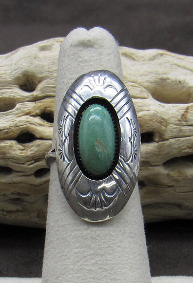 Turquoise and Sterling Silver Ring by Renelle Perry Size 6