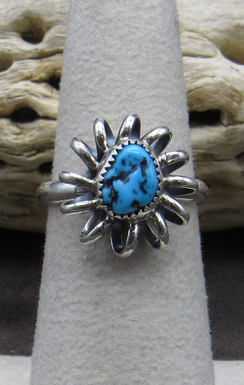 Darling Turquoise and Sterling Silver Ring Size 5 3/4