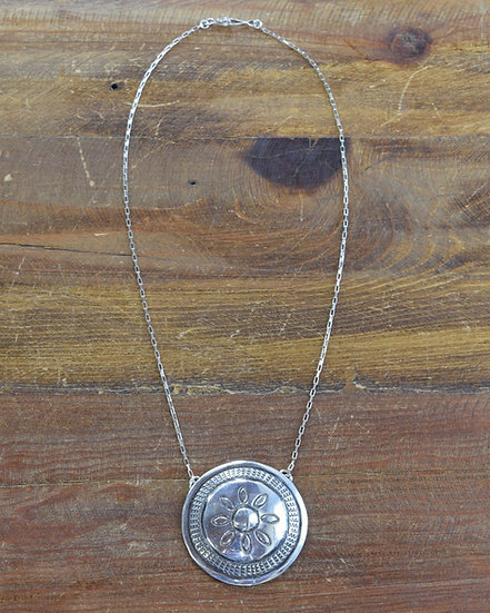 Southwestern Sterling Silver Concho Necklace