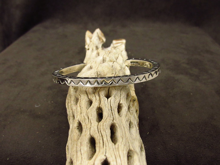 Sterling Silver Stamped Square Cuff Bracelet