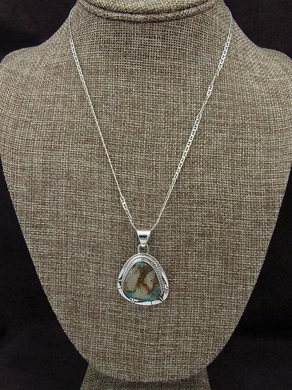 Turquoise Sterling Silver Pendant by Pete Sanchez
