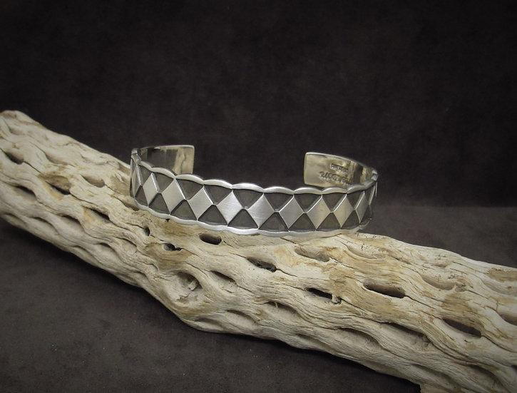 Sterling Silver Men's Cuff Bracelet by Emerson Bill