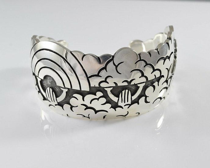 Sterling Silver Overlay Cuff Bracelet by Rick Manuel