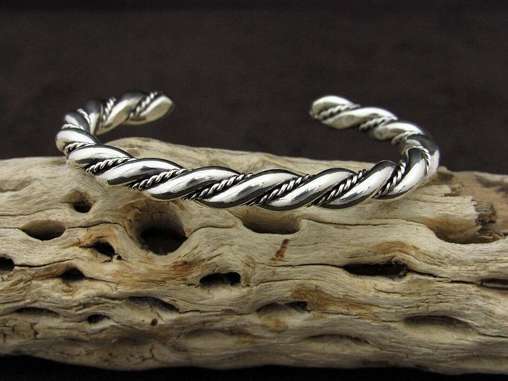 Southwestern Twisted Sterling Silver Cuff Bracelet