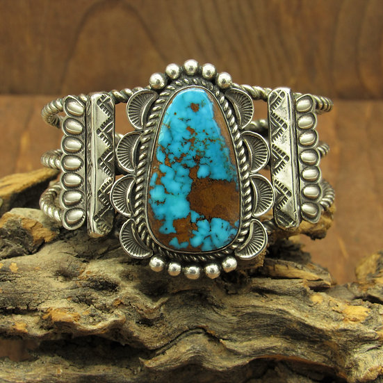 Beautiful Sterling Silver and Turquoise Bracelet by Alex Sanchez