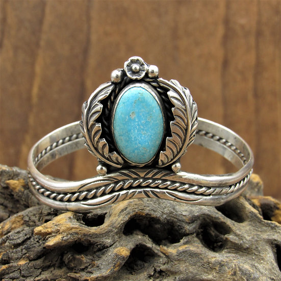 Sterling Silver and Turquoise Southwest Sweater Bracelet