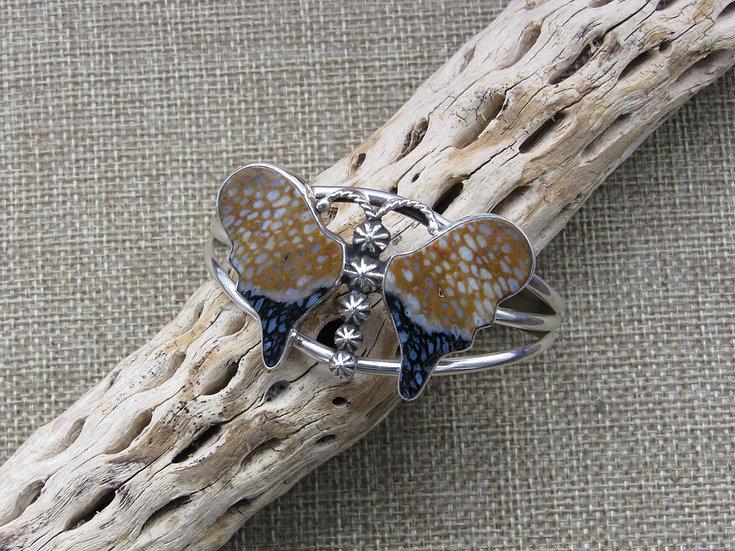 Beautiful Southwestern Sterling Silver Butterfly Cuff Bracelet