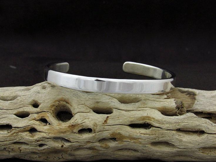 Plain Sterling Silver Cuff Bracelet