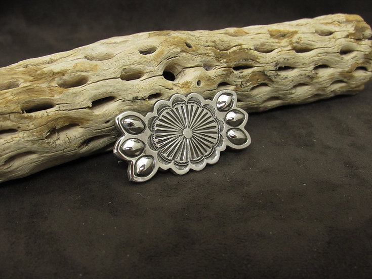 Southwestern Sterling Silver Stamped Pin