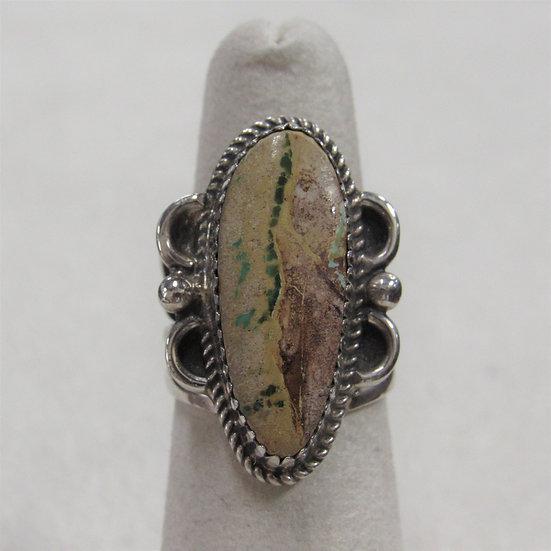 Southwest Boulder Turquoise Ladies Ring Size 5.75