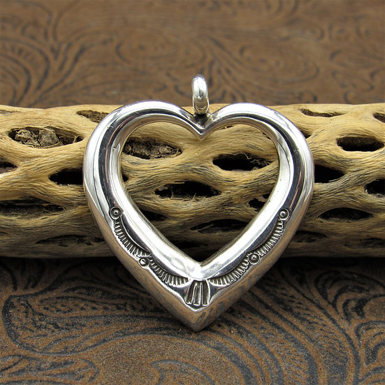 Simple Sterling Silver Heart Pendant