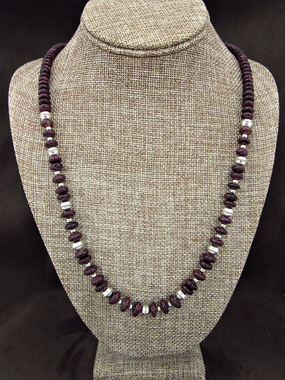 Southwestern Purple Spiny Oyster Beaded Necklace