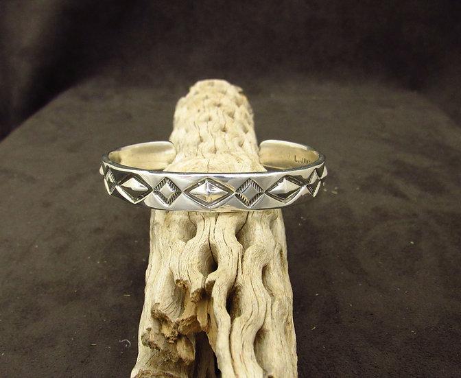 Southwestern Sterling Silver Geometric Cuff Bracelet by Lorenzo James