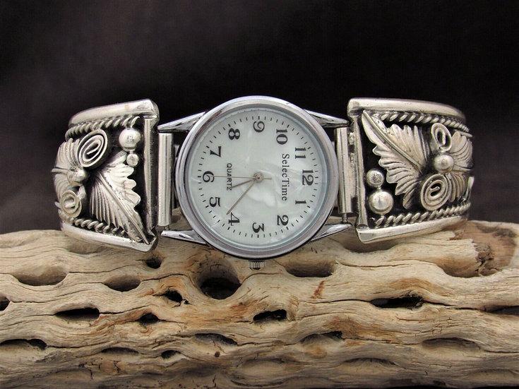 Sterling Silver Southwestern Men's Watch Band