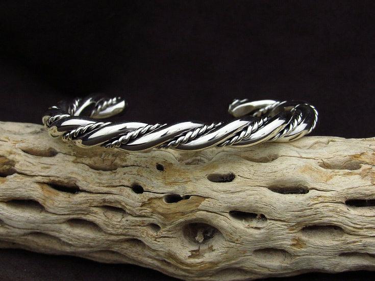 Twisting Sterling Silver Cuff Bracelet
