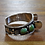 Thumbnail: Vintage Green Turquoise Sterling Silver Watch Cuff Bracelet