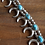 Thumbnail: Vintage Southwest Sterling Turquoise Sandcast Naja Squash Blossom Necklace