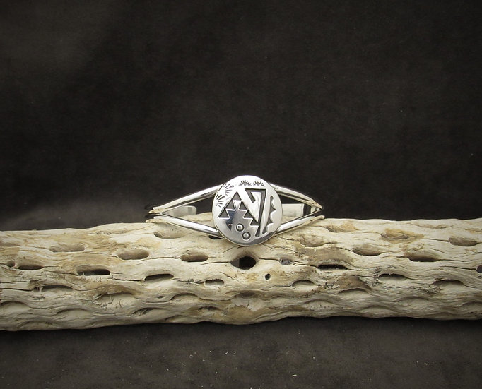 Navajo Sterling Silver Cuff Bracelet by Rosco Scott