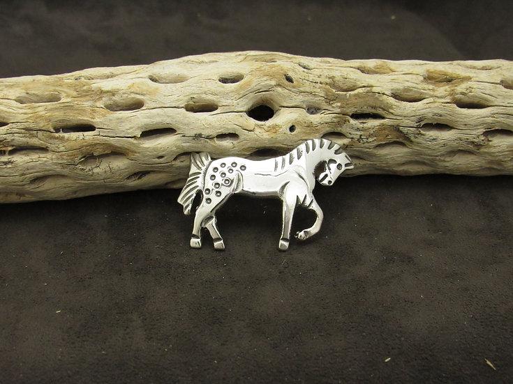 Navajo Sterling Silver Horse Pin