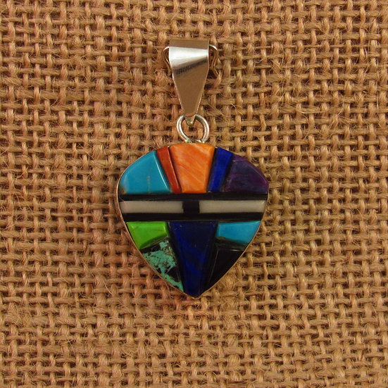 Navajo Multi Stone Reversible Inlay Pendant