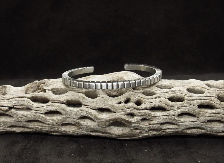 Southwestern Matte Sterling Silver Cuff Bracelet