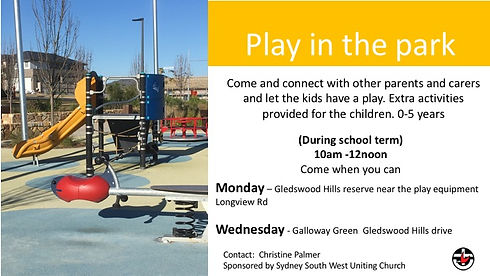1 play in the park Wednesday  and thursd