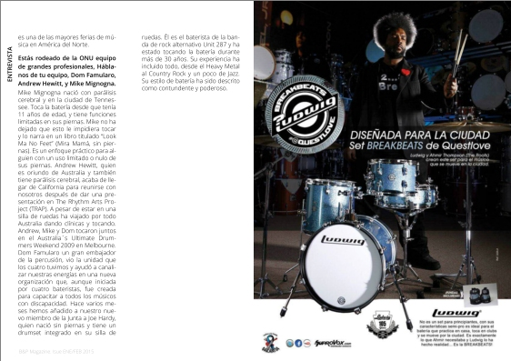 Spain's Batería Percusión magazine