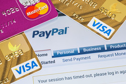 Online Shopping Paid Via Paypal Payments Using Plastic Cards Visa And Mastercard.jpg