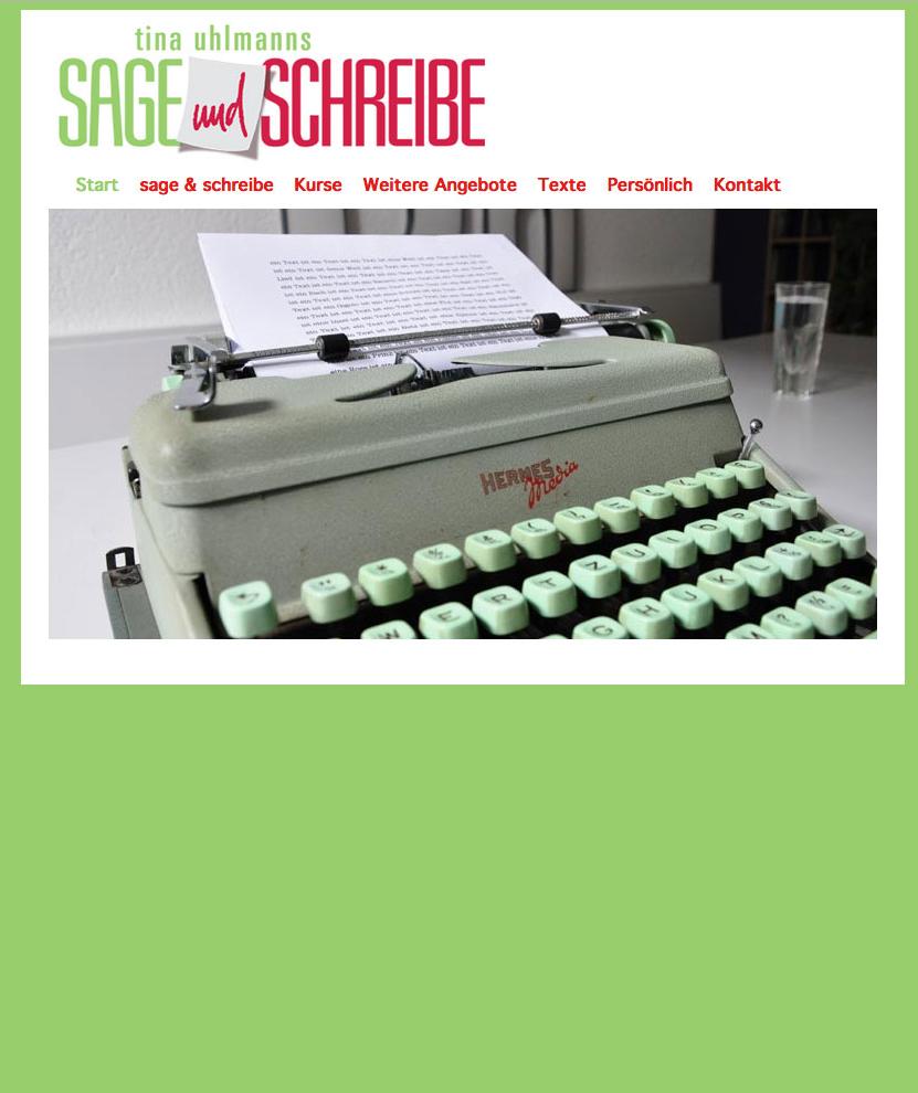 Website Atelier Sage&Schreibe