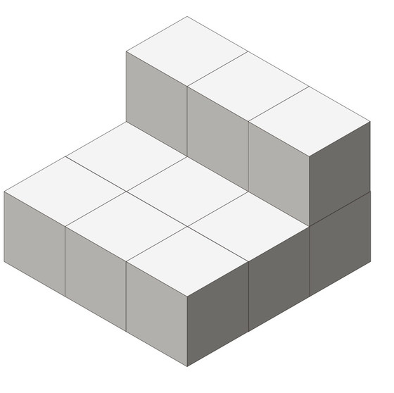 砌立方體的方法
